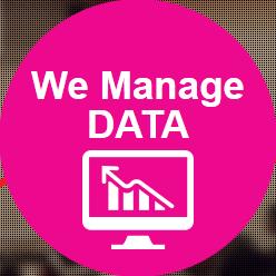 we manage data